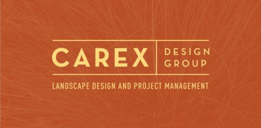 Carex Design Group Logo on Orange Background