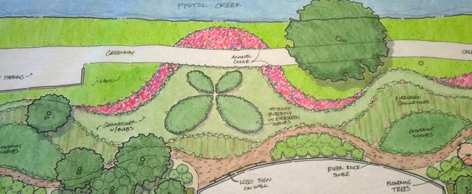 Hand Drawn Landscape Design Plan
